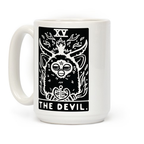The Devil Tarot Card Furby Coffee Mug
