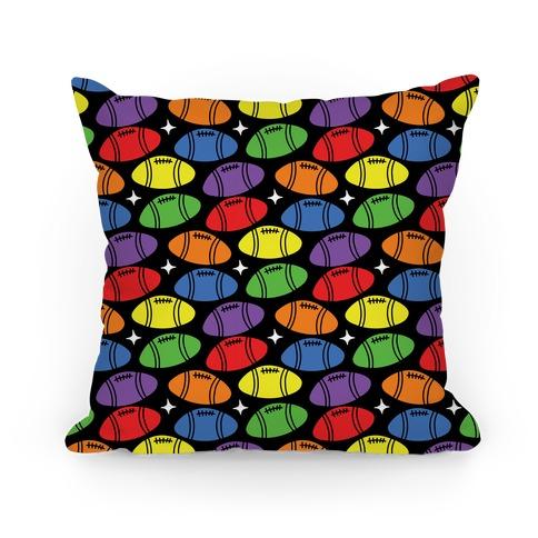 Gay Football Pattern Pillow