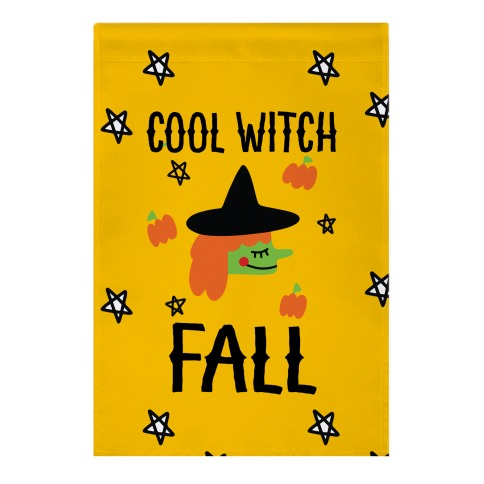 Cool Witch Fall Garden Flag