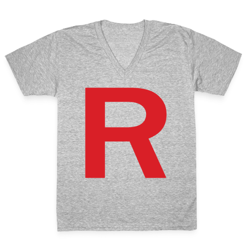 Team Rocket V-Neck Tee Shirt