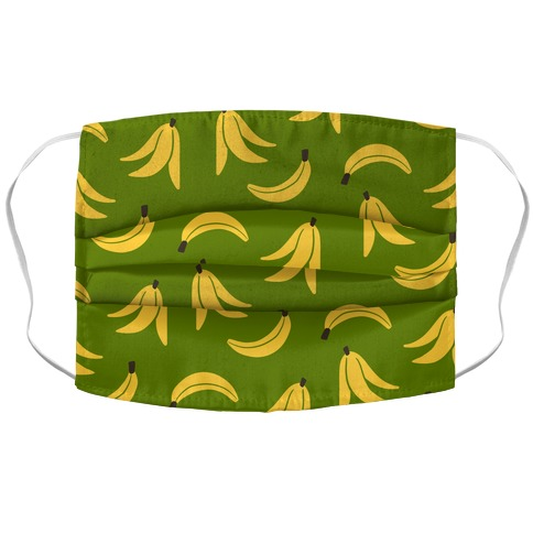 Simple Banana Pattern Accordion Face Mask