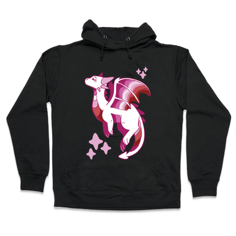 Lesbian Pride Dragon Hooded Sweatshirt