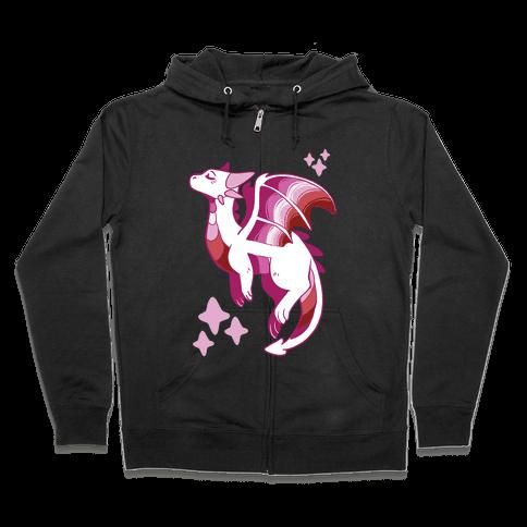 Lesbian Pride Dragon Zip Hoodie