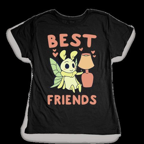 Best Friends - Moth and Lamp  Womens T-Shirt