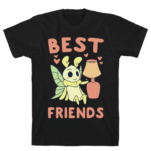 Best Friends - Moth and Lamp  Mens T-Shirt