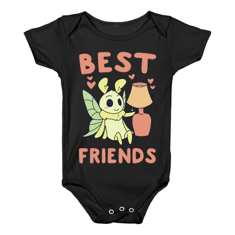 Best Friends - Moth and Lamp  Baby Onesy