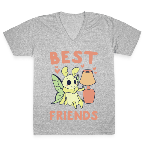 Best Friends - Moth and Lamp  V-Neck Tee Shirt