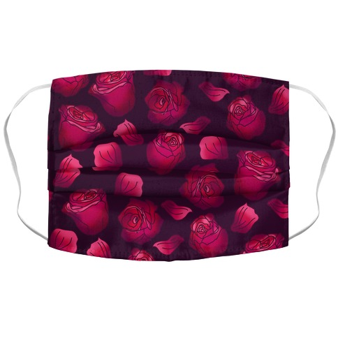 Gradient Roses Pattern Face Mask Cover