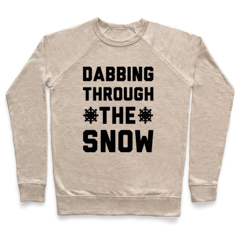778617800 Dabbing Through The Snow Crewneck Sweatshirt | LookHUMAN