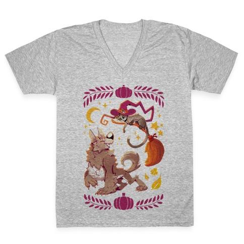 Wholesome Halloween V-Neck Tee Shirt