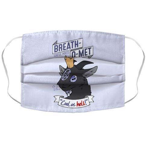 Breath-O-Met Sinful Mints Accordion Face Mask