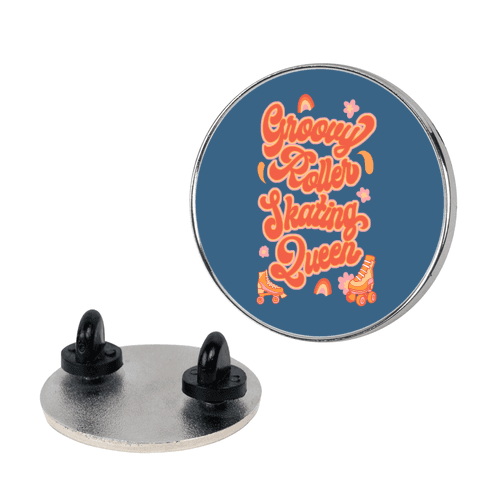Groovy Roller Skating Queen Pin