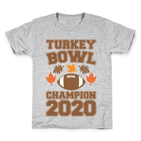 Turkey Bowl Champion 2020 Kids T-Shirt