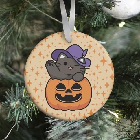 Cute Halloween Cat Ornament
