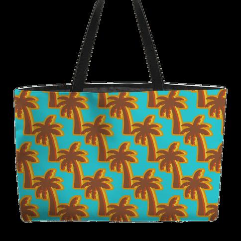 Retro Palm Pattern Weekender Tote