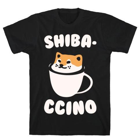Shibaccino White Print T-Shirt