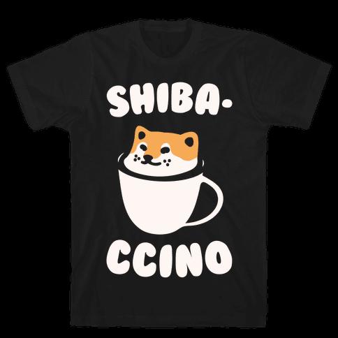 Shibaccino White Print Mens T-Shirt
