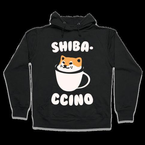 Shibaccino White Print Hooded Sweatshirt