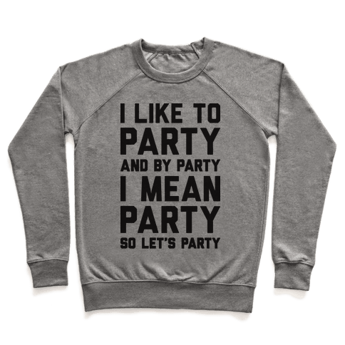 I Like To Party And By Party I Mean Party Pullover
