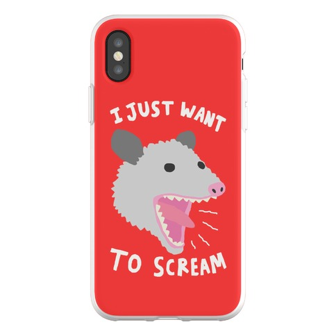 I Just Want To Scream Phone Flexi-Case