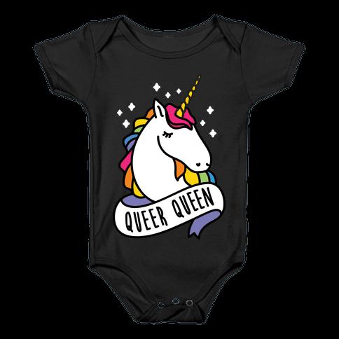Queer Queen Baby Onesy