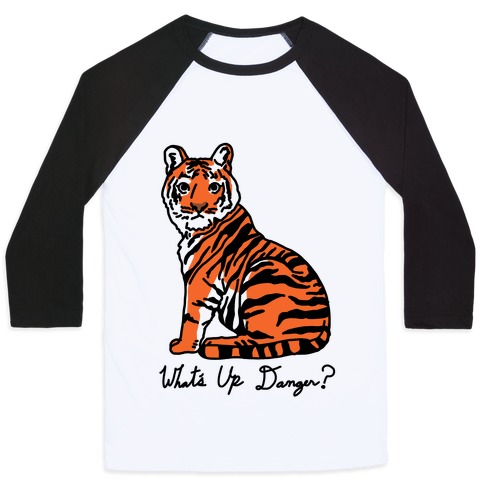 What's Up Danger Tiger Baseball Tee
