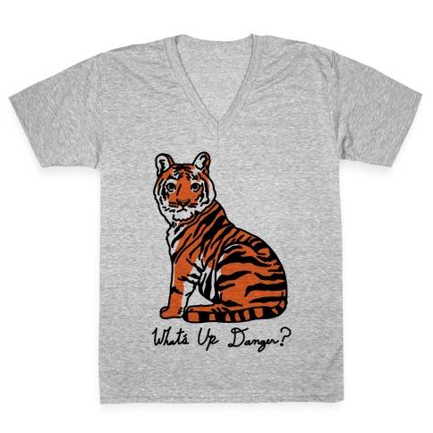 What's Up Danger Tiger V-Neck Tee Shirt