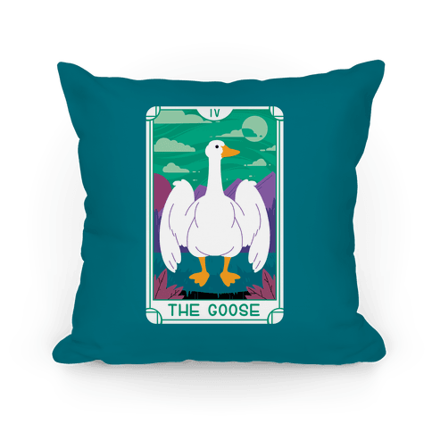The Goose Tarot Pillow