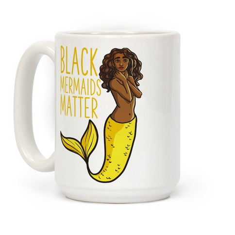 Black Mermaids Matter Coffee Mug