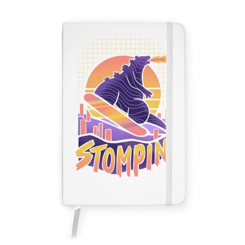 Stompin' Snowboarding Godzilla Notebook