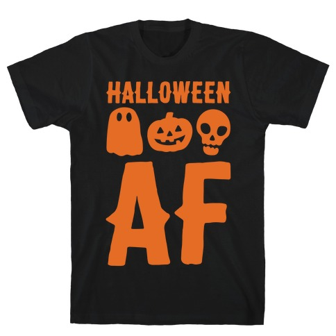 Halloween AF White Print T-Shirt