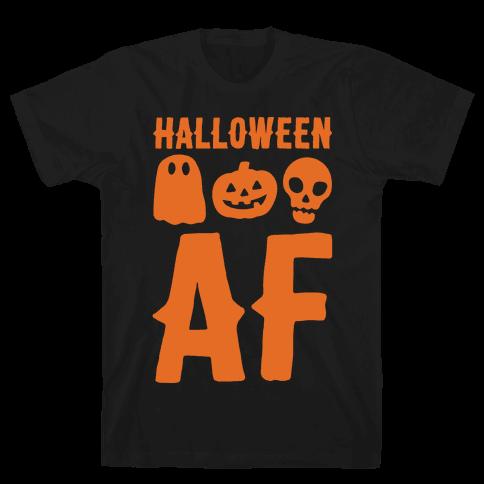 Halloween AF White Print Mens T-Shirt