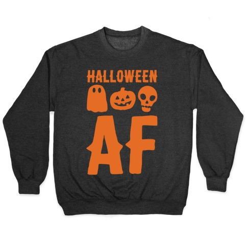 Halloween AF White Print Pullover