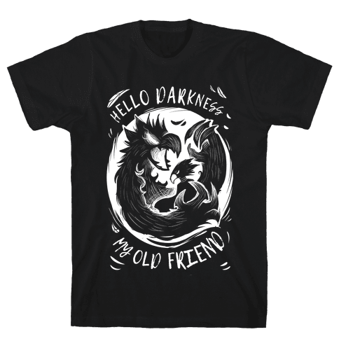 Takoyami Hello Darkness My Old Friend Mens T-Shirt