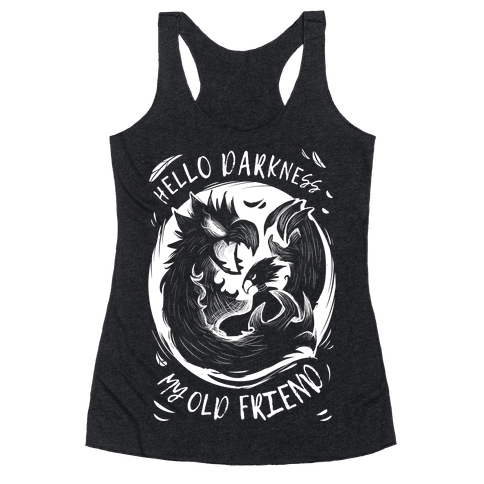 Takoyami Hello Darkness My Old Friend Racerback Tank Top
