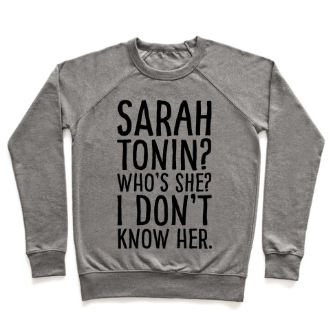 Sarah Tonin I Don't Know Her Pullover