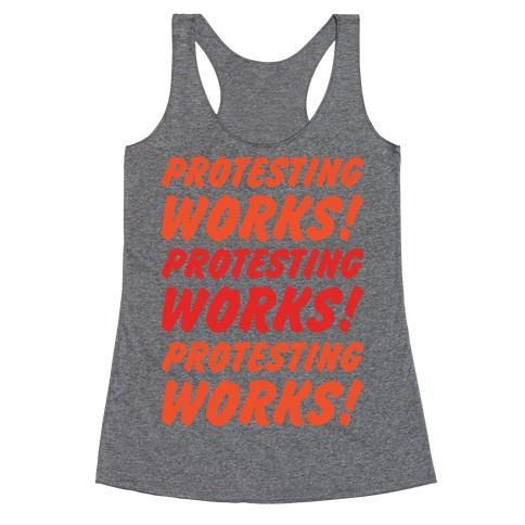 Protesting Works Racerback Tank Top