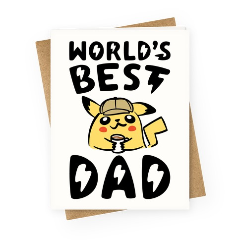 World's Best Dad Parody Greeting Card
