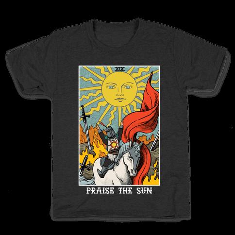 Praise The Sun Tarot Card Kids T-Shirt