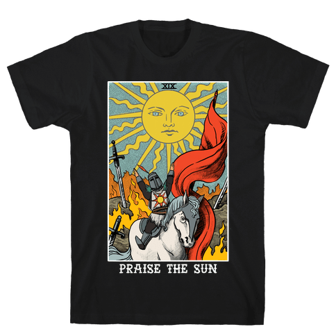 Praise The Sun Tarot Card Mens T-Shirt