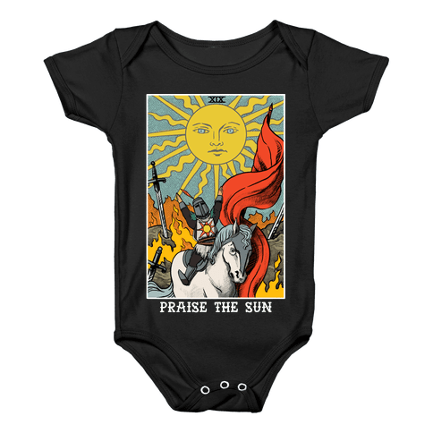 Praise The Sun Tarot Card Baby Onesy