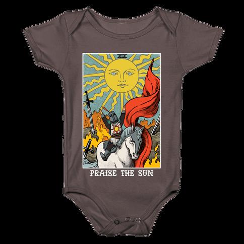 Praise The Sun Tarot Card Baby One-Piece