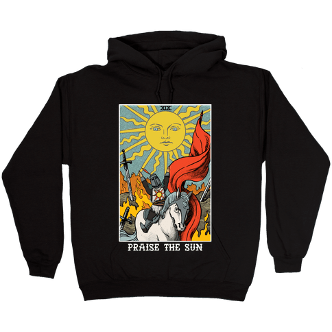 Praise The Sun Tarot Card Hooded Sweatshirt