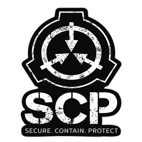 SCP Secure. Contain. Protect Die Cut Sticker