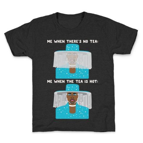 Me When There's No Tea Vs Me When The Tea Is Hot Parody White Print Kids T-Shirt