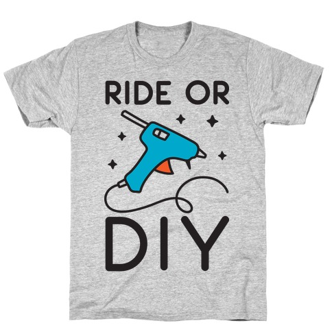 Ride Or DIY Pair 1/2 T-Shirt