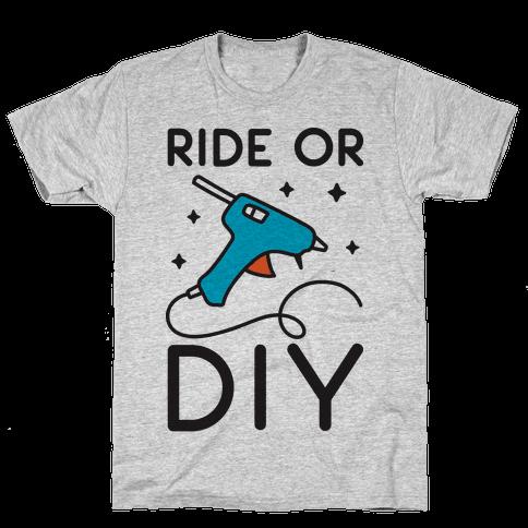 Ride Or DIY Pair 1/2 Mens T-Shirt