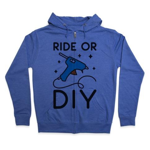 Ride Or DIY Pair 1/2 Zip Hoodie
