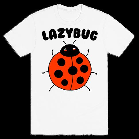 Lazybug Lazy Ladybug Mens/Unisex T-Shirt