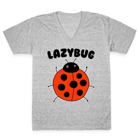 Lazybug Lazy Ladybug V-Neck Tee Shirt